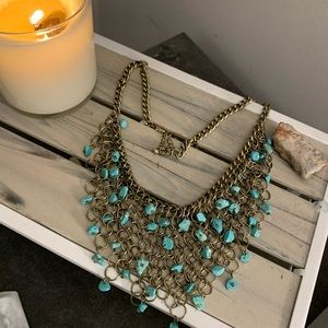 Torquoise statement necklace